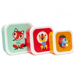 Petit Monkey Lunchbox set of 3 - Animals