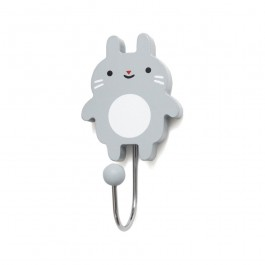 Petit Monkey wooden Hook for kids room - Bunny grey  petit monkey, kids room, kids room decoration, hangers for kids room,