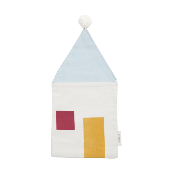 Cloth Gift Bag Cosy - House, gift for kids, kids room, organic cotton, fabelab, kids store, present for christmas