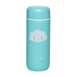 a little lovely company insulated steel drink bottle - cloud