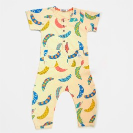 Indikidual Organic Jumpsuit - Dancehall,  cow makes moo,  organic kids clothes, organic clothes fro gils,