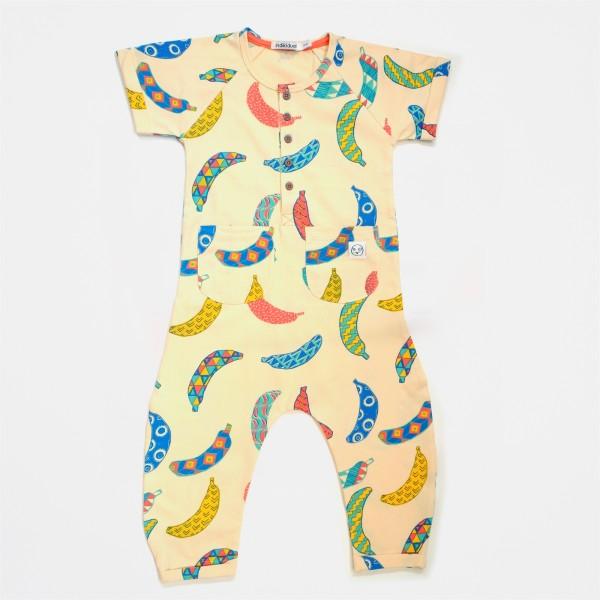 Indikidual Organic Jumpsuit - Dancehall,  cow makes moo,  organic kids clothes, organic clothes fro gils,