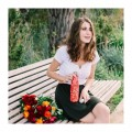 Insulated Stainless Steel Bottle - Flowers Red - 500ml