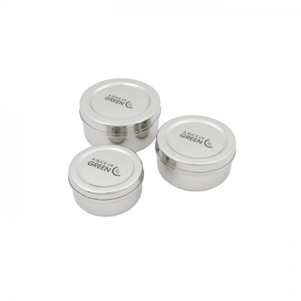 Stainless Steel kadapa – Set of Three Containers