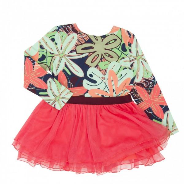 Koolabah Organic Dress  - FLOWER BOMB DISCO, organic kids wear, organic kids clothes,