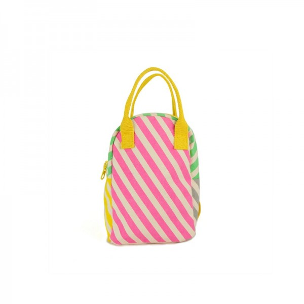 Fluf Lil B Pack - Candy Stripe, fluf, lunch bags, eco friendly lunch bags, food in school,