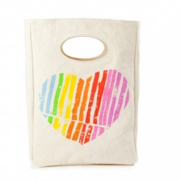 Lunch Bag - Hearts, kids accessories, eco friendly kids, organic accessories for kids, school accessories,