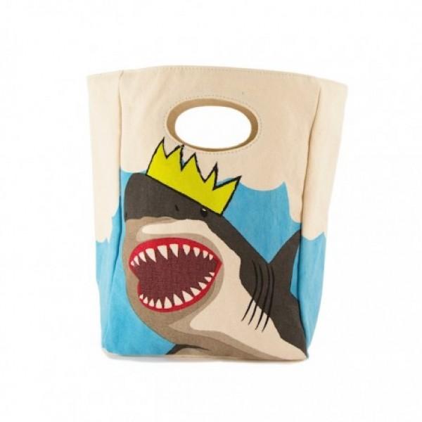 Fluf Οικολογική Τσάντα Μεταφοράς Φαγητου - Shark, οικολογικα αξεσουαρ, ισοθερμικη επενδυση, βρεφικα οικολογικα αξεοσυαρ, ισοθερμικες τσαντες για φαγητο, ισοθερμικες τσαντες για κολατσιο, οικολογ