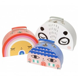 petit monkey - Double face suitcase Set, petit monkey, cow makes moo, kids, decor, eco friendly kid products,