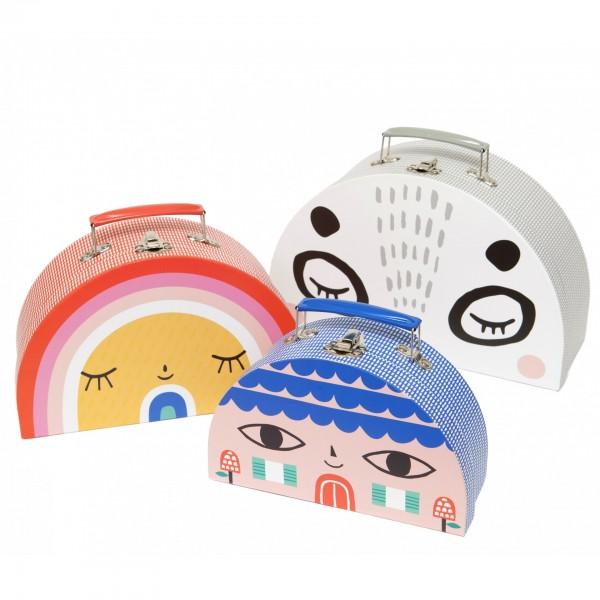petit monkey - Double face suitcase Set, petit monkey, cow makes moo, kids, decor, eco friendly kid products,