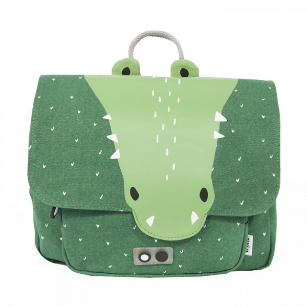 Satchel -  Mr. Crocodile, trixie backpack, trixie-baby, trixie baby, eco friendly, kids accessories, bags for school, backpack for kids, backpacks for kindergarten