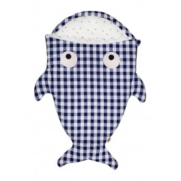 Baby Bites Sleeping Bag - Blue Vichy