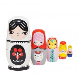 petit monkey Nesting Dolls - Fleur & Friends, wooden dolls, matriyoskas,