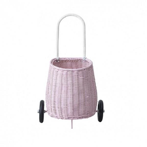 Olli Ella Luggy Basket - Pink, olli ella,