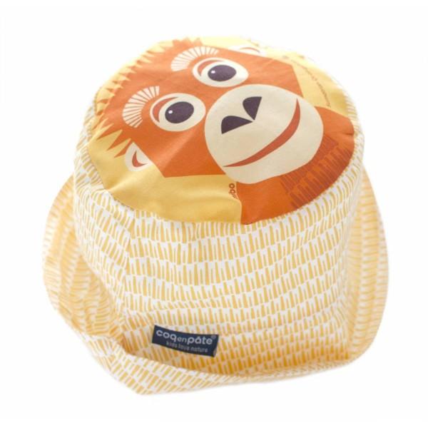Coq en Pate Sun Hat - Orangutan, καπελα για τον ηλιο, παιδικα καπελακια ηλιου για παιδια, οικολογικα καπελα, καπλεα απο οργανικο