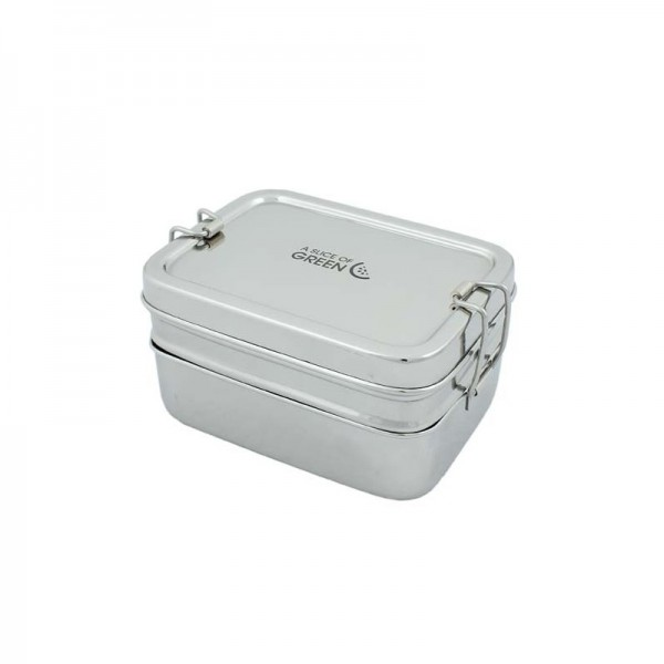 Stainless still Lunch Box Two tier & mini Container - Panna