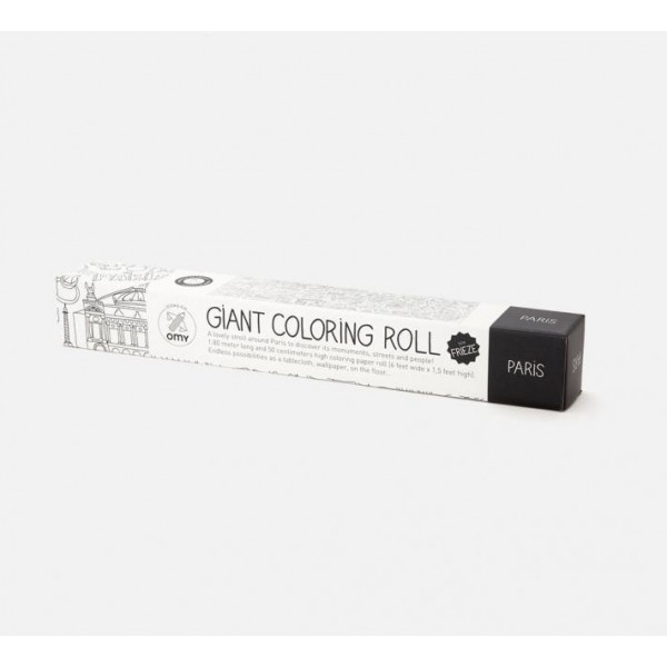 OMG Giant Coloring Roll - Paris