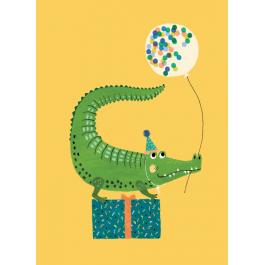 Petit Monkey Postcard - Crocodile Party