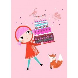 Petit Monkey Postcard - Happy Birthday
