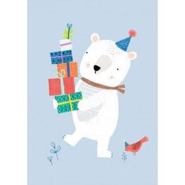 Petit Monkey Postcard - Polar Bear
