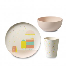 Bamboo children tableware - ice cream, tableware for kids made from bamboo