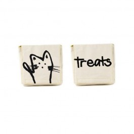 Fluf Organic Snack Packs set of 2 -  Meow, organic lunch pots, organic lunch bags,