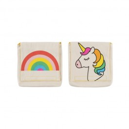 Fluf Organic Snack Packs set of 2 -   unicorn & rainbow, fluf, eco friendly lunch pots,