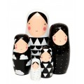 nesting dolls, wooden toys, kids room, kids accessories, present for kids, petit monkey