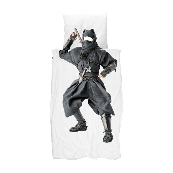 SNURK NINJA DUVET COVER, snurk, eco friendly kids, snuck duvet cover, snuck organic, cowmakesmoo,