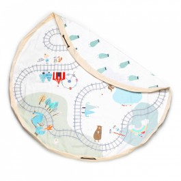 Play and Go Playmat & Storage - TRAINMAP/BEARS
