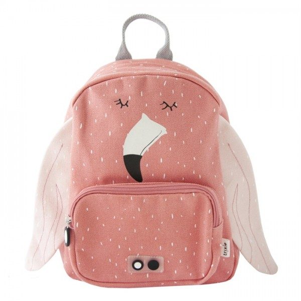 trixie baby backpack - flamingo, backpacks for kindergarten, backpack for school, trixie-baby, trixie baby, trixie backpack, eco friendly backpacks, bags for school,