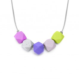 Lara & Ollie Teething Necklace - VIOLET, lara and ollie, lara & ollie, teething necklace, eco friendly, stylish jewelry for mums, stylish jewelry,