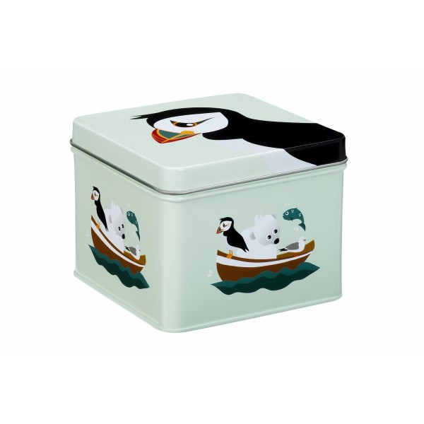 Blafre metallic square box puffin