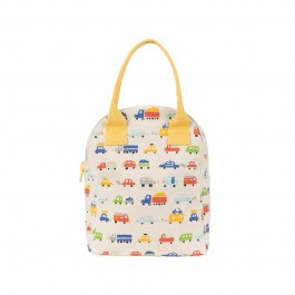 fluf Zipper Lunch Bag - cars, eco friendly, kids accessories, lunch boxes, lunch bags, accessories for school,