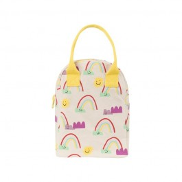fluf Organic zipper Lunch bag - Rainbows