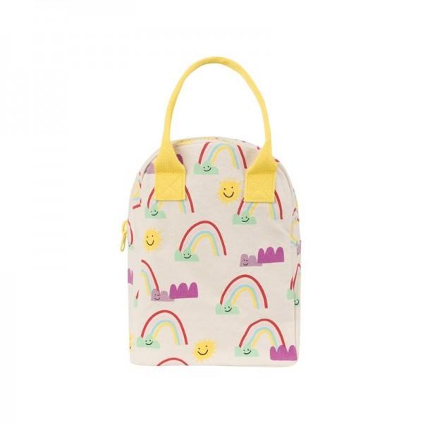 fluf Organic zipper Lunch bag - Rainbows