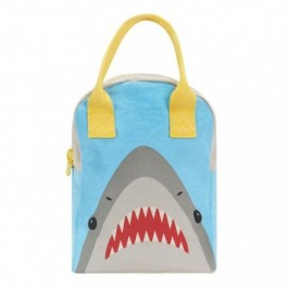 Fluf Eco Friendly Zipper Lunch Bag - Shark