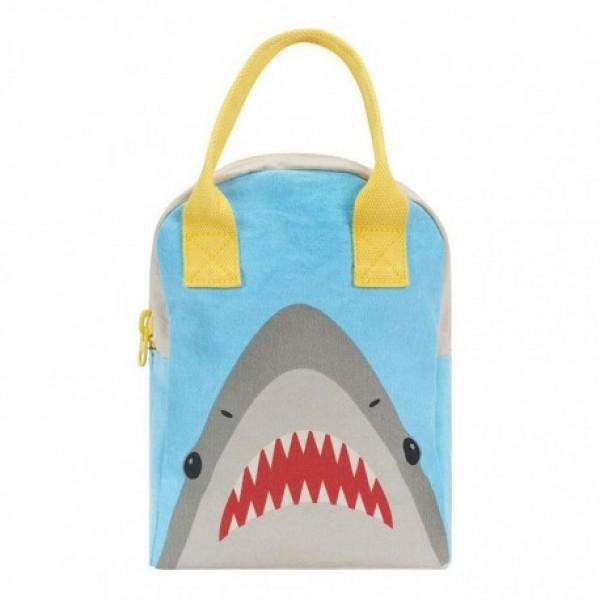 Fluf Eco Friendly Zipper Lunch Bag - Shark