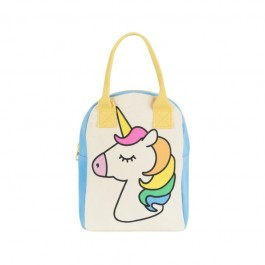 Zipper Lunch Bag - Unicorn, fluf, eco friendly, kids accessories, lunch boxes, lunch bags, accessories for school,